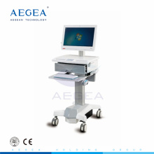 AG-WT006 aluminum material height adjustment hospital mobile computer workstation cart